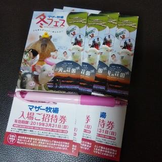 マザー牧場招待券 4枚(動物園)