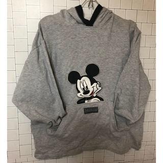 ミッキーマウス(ミッキーマウス)のvintage ヴィンテージ Disney ミッキー パーカー Lサイズ(パーカー)