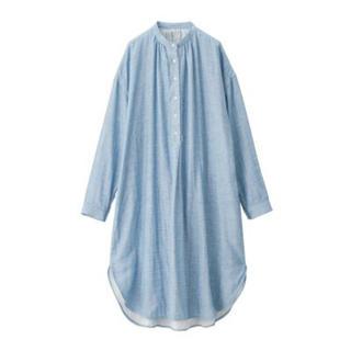 MUJI (無印良品) - 新品   無印良品   綿混ムラ糸二重ガーゼワンピース