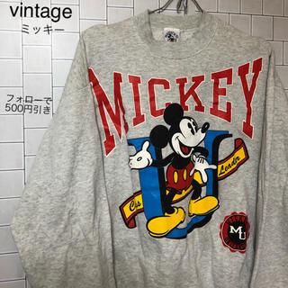 ディズニー(Disney)のvintage  Disney ミッキー トレーナー フォローで500円引き(トレーナー/スウェット)