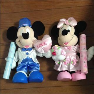 ディズニー(Disney)の電報 結婚式 ぬいぐるみ セット(ぬいぐるみ)