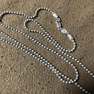 クロムハーツ(Chrome Hearts)のクロムハーツ風 ボールチェーン シルバー925 ネックレス ペンダント チャーム(ネックレス)