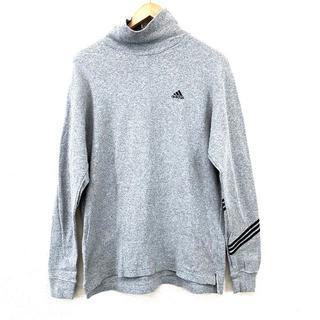 アディダス(adidas)の美品 adidas アディダス メンズ タートルネック グレー L(Tシャツ/カットソー(七分/長袖))