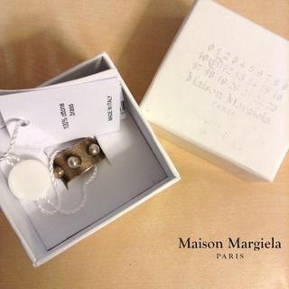 マルタンマルジェラ(Maison Martin Margiela)の新品■L■マルジェラ 17AW■シグネットリング■指輪■ブラス■5139 (リング(指輪))