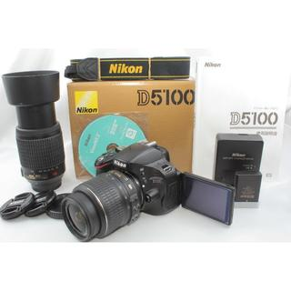 Nikon - ☆美品☆ニコン D5100 ダブルズームキット 付属品多数