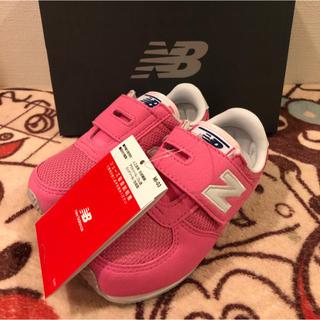 New Balance - 15センチ  新品未使用 ニューバランス スニーカー ピンク 女の子 子供 靴