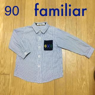 ファミリア(familiar)の【美品】90 Familiar ブラウス(ブラウス)