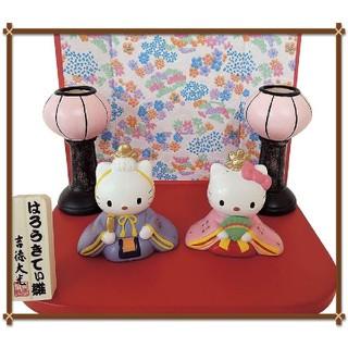 ハローキティ(ハローキティ)の吉徳 ハローキティ 雪洞付き ミニ 雛人形 お雛様(キャラクターグッズ)