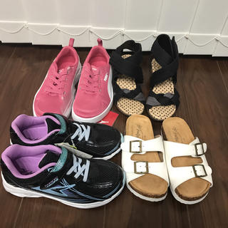 女子 子供 サンダル 靴 スニーカー まとめ売り