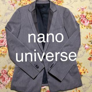 ナノユニバース(nano・universe)の★nanouniverse★ テーラードジャケット グレー(テーラードジャケット)