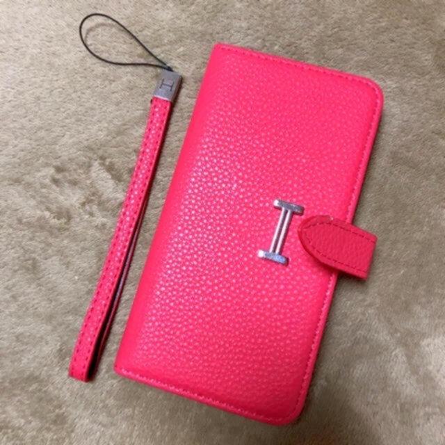iphone x ケース カード 背面 / 難ありお安く iPhoneケース Hマーク 手帳型 7plusの通販 by BLUE  s shop|ラクマ
