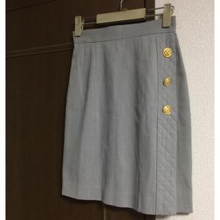 ジョア(Joie (ファッション))の値下! JOIE キレイめスカート 金ボタン 巻き ジョア(ひざ丈スカート)