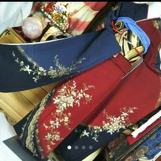 正絹 やまと謹製 縮緬生地刺繍金彩(*^^*)振袖セット(振袖)