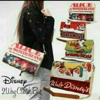 ディズニー(Disney)の新品 ミッキーマウス 2way ショルダー・クラッチバッグ レトロ 半額以下(ショルダーバッグ)