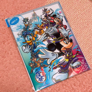 ディズニー(Disney)のディズニー 夏祭り 群舞 ミッキー ミニー クリアファイル(クリアファイル)