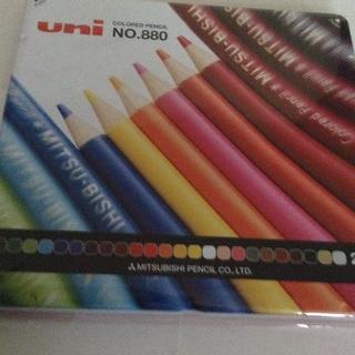 ミツビシエンピツ(三菱鉛筆)の☆uni 三菱色鉛筆 24色☆(色鉛筆 )