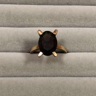 専用 茶石 大きめストーン ゴールドリング(リング(指輪))