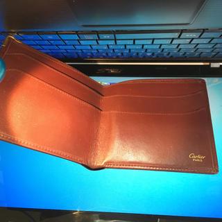 カルティエ(Cartier)のCartier  財布 二つ折り札入れ   ボルドー*マスト(折り財布)