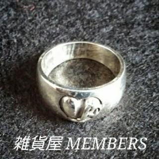 送料無料18号クロムシルバー925ハートスタンプリング指輪値下クロムハーツ好きに(リング(指輪))