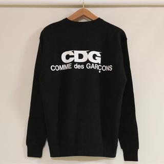 コムデギャルソン(COMME des GARCONS)の送料込み 新品 コムデギャルソン CDG ロゴ トレーナー スウェット黒(スウェット)