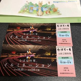 なばなの里 入村券 ペアチケット(遊園地/テーマパーク)