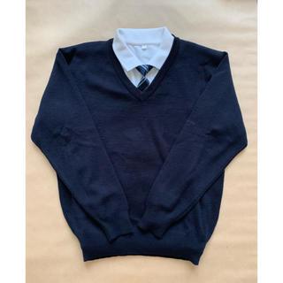 【3点セット】Vネックニット・ポロシャツ・ネクタイのセット 卒業式(ドレス/フォーマル)