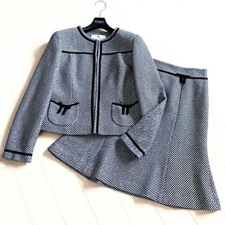 クレージュ(Courreges)の新品同様‼️クレージュ リボン付き 清楚ツイード スカートスーツ フォクシー(スーツ)