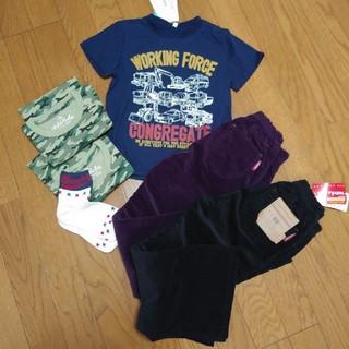 しまむら - 新品 120㎝セット コーデュロイパンツ 半袖Tシャツ インナー 靴下