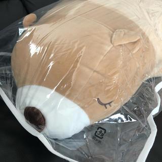 抱き枕 新品未使用 クマ ベージュ ぬいぐるみ タグつき 袋つき ベア 熊(ぬいぐるみ)