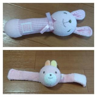ミキハウス(mikihouse)の美品ミキハウス&BeBeおもちゃ(がらがら/ラトル)