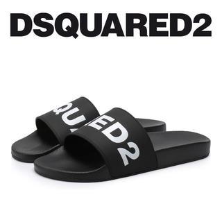 ディースクエアード(DSQUARED2)の【4】DSQUARED219ss ブラック ラバー サンダル/シャワーサンダル(サンダル)
