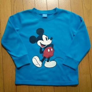 ディズニー(Disney)のミッキーマウス 裏起毛トレーナー120㎝(Tシャツ/カットソー)