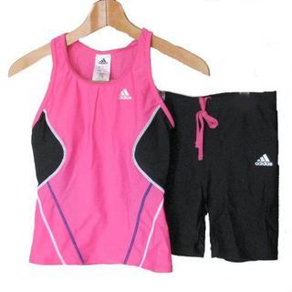 アディダス(adidas)の新品◆(L)アディダス ピンク×黒セパレート水着(水着)