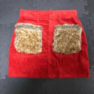 グレイル(GRL)のGRL♡ポケットファーコーデュロイスカート(ミニスカート)