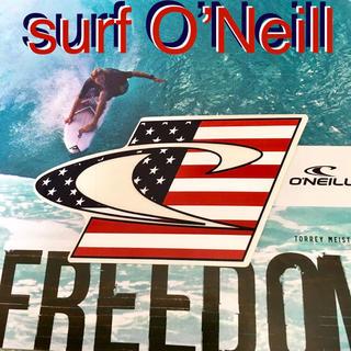 オニール(O'NEILL)のO'NEILLオニール US限定 激レア 型抜き アメリカンフラッグ ステッカー(サーフィン)