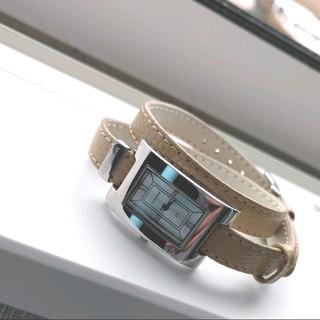 ミキモト(MIKIMOTO)のかあちゃん様専用 ミキモト 二連 腕時計 ベージュ 試着のみ(腕時計)