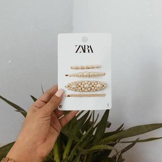 ザラ(ZARA)の新品!ZARA パールアクセサリー(バレッタ/ヘアクリップ)