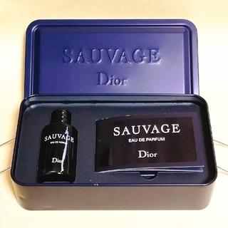 ディオール(Dior)の【Dior】ディオール ソヴァージュ オードゥパルファン 10ml 限定ケース付(香水(男性用))