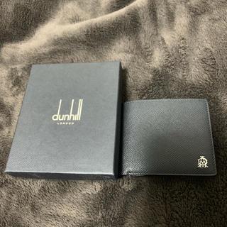 ダンヒル(Dunhill)のダンヒル dunhill 二つ折り財布 メンズ エンジンターン ブラック(折り財布)