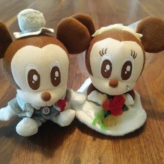 ディズニー(Disney)のミッキー ミニー ぬいぐるみ ウェディング(キャラクターグッズ)