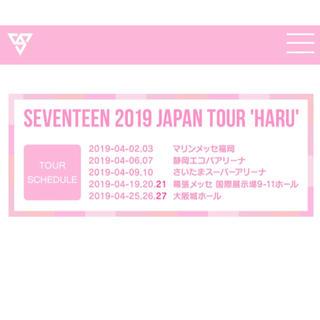 セブンティーン(SEVENTEEN)のSEVENTEEN  チケット専用(K-POP/アジア)