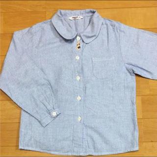 ファミリア(familiar)のfamiliar ストライプシャツ 120センチ(ブラウス)