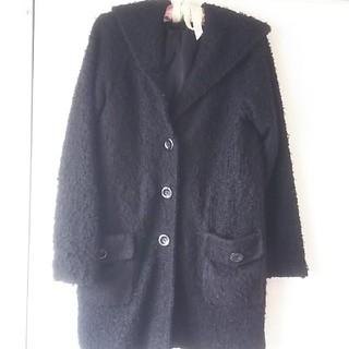 シマムラ(しまむら)のもこもこ コート 大きめフード ボタン(毛皮/ファーコート)