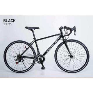新品★送料無料 初心者向ロードバイク シマノ14段ギア 700×28c ブラック(自転車本体)