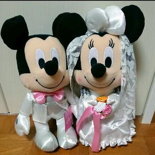 ディズニー(Disney)の【新品未使用】ミッキー&ミニー ウェディングドール(キャラクターグッズ)