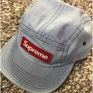 シュプリーム(Supreme)のSupreme Washed Chino Camp Cap 青(キャップ)