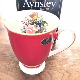 エインズレイ(Aynsley China)の新品未使用 エインズレイ  Aynsley マグカップ 赤(グラス/カップ)