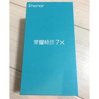 新品同様 honor 7X レッド BND-L21 グローバル SIMフリー(スマートフォン本体)