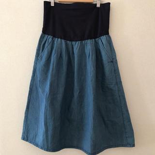 MUJI (無印良品) - 無印良品  産後も履けるマタニティスカート