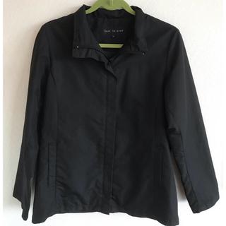 シマムラ(しまむら)のナイロンジャケット 黒 ジップアップコート(ナイロンジャケット)